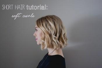 short hair tutorial: soft curls (video)