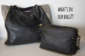 what's in our bags?!